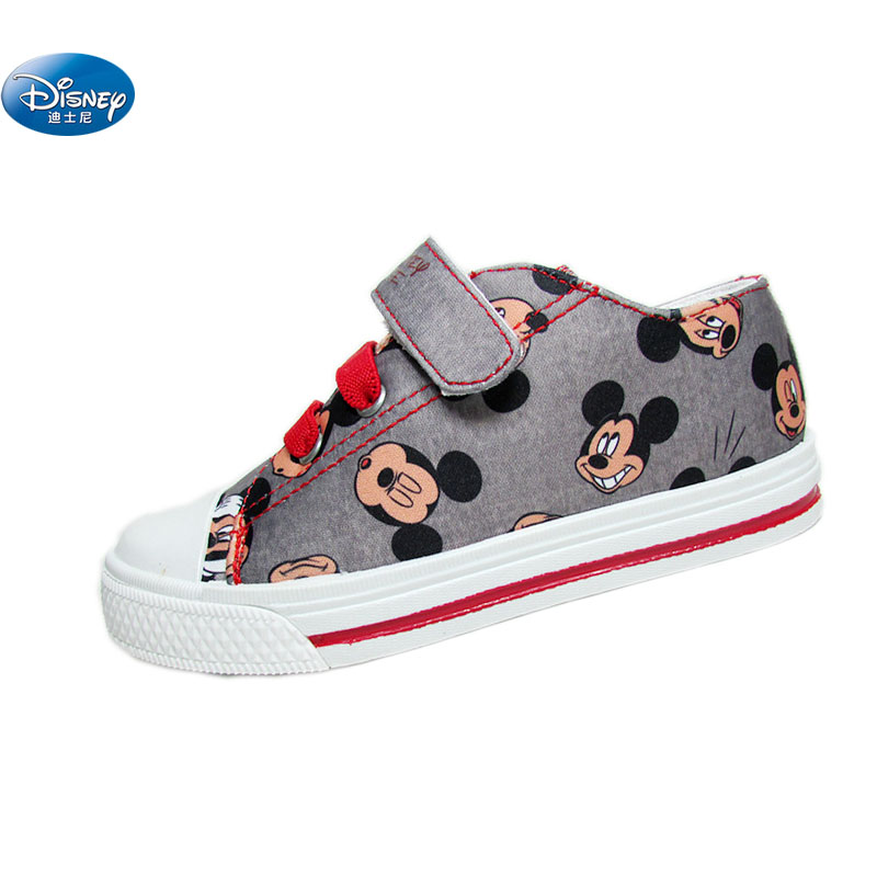 Cartoon Mickey Canvas Shoes Girls Boys  No Shoelace Soft Casual Shoes Europe Size 28-34