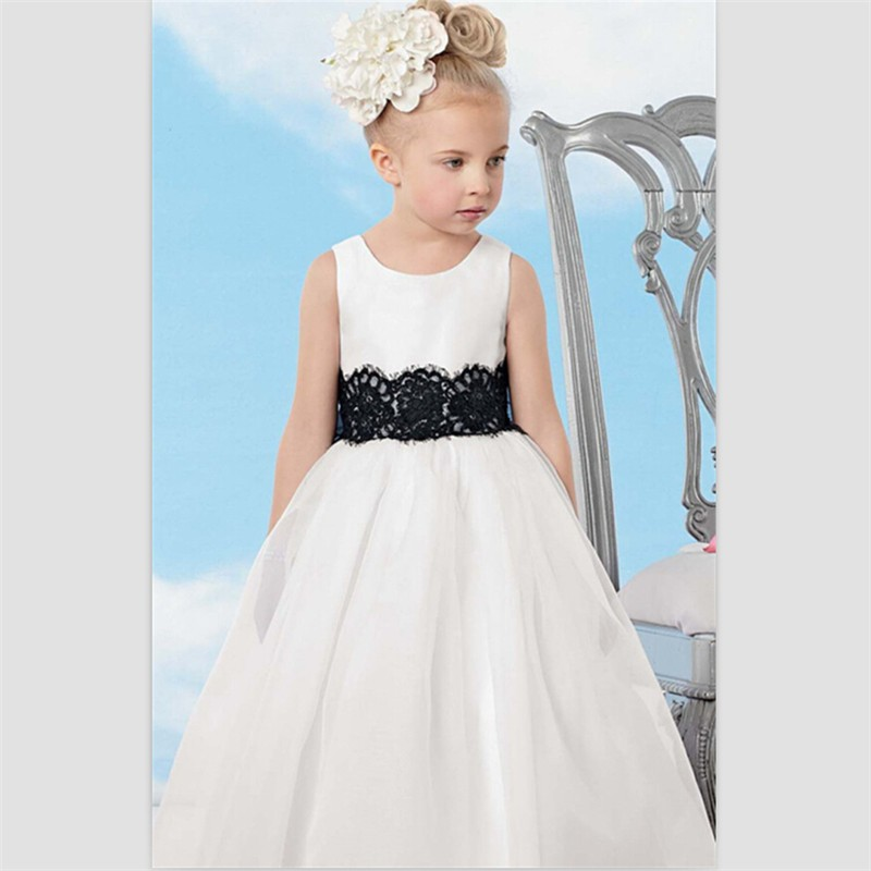 White satin flower girl dresses for weddings ankle length kids 2015 white satin flower girl dresses for weddings mightylinksfo