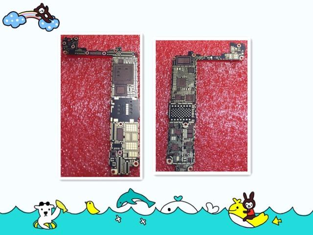 2 pçs/lote nova lâmpada nua motherboard mainboard board para iphone 7 parte substituição para teste
