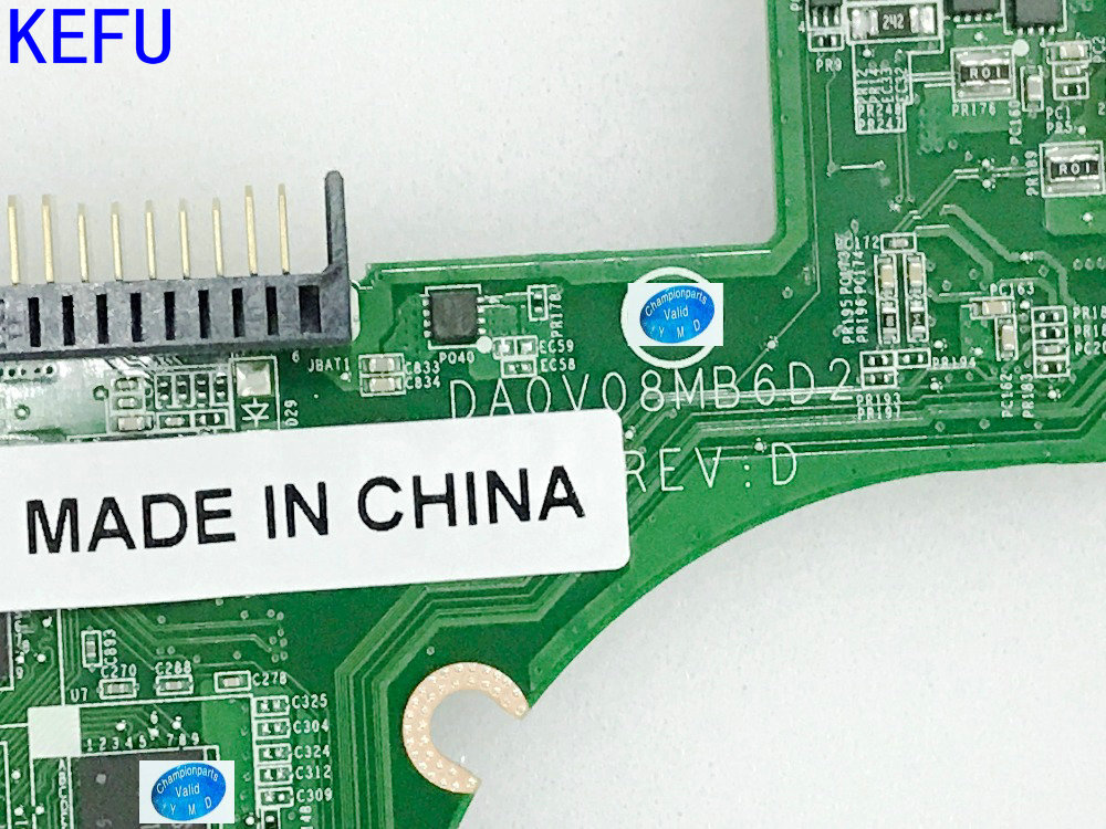 KEFU NEW 0C0NHY DA0V08MB6D2 REV : D  FREE SHIPPING Laptop Motherboard for Dell VOSTRO 3460 Notebook PC VIDEO CARD N13P-GL-A1 brand new pbl80 la 7441p rev 2 0 mainboard for asus k93sv x93sv x93s laptop motherboard with nvidia gt540m n12p gs a1 video card