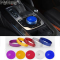 Car-styling Chrome Car Gear Shift Knob Covers Decoration Sticker Car Console Panel Switch Cover For Audi A3 2014 2015 2016