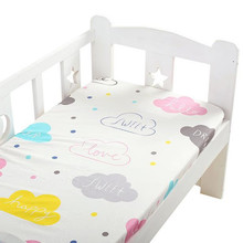 Baby Bedding Sheets Soft Breathable Rubber Band Baby Crib Fitted Sheet 100% Cotton Print Mattress Cover Newborn Baby Cot Sheets