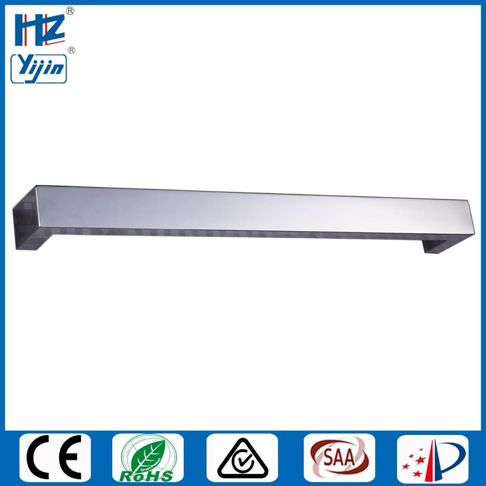 Широкая хромированная отделка с подогревом полотенцесушитель подогреватель скрытый/открытая проводка электрическое Полотенце радиатор полотенцесушитель HZ-920A