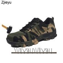 29fb22ee0 Luz Dos Homens novos botas de segurança dos homens camuflagem bot Plus Size  Trabalho & Botas