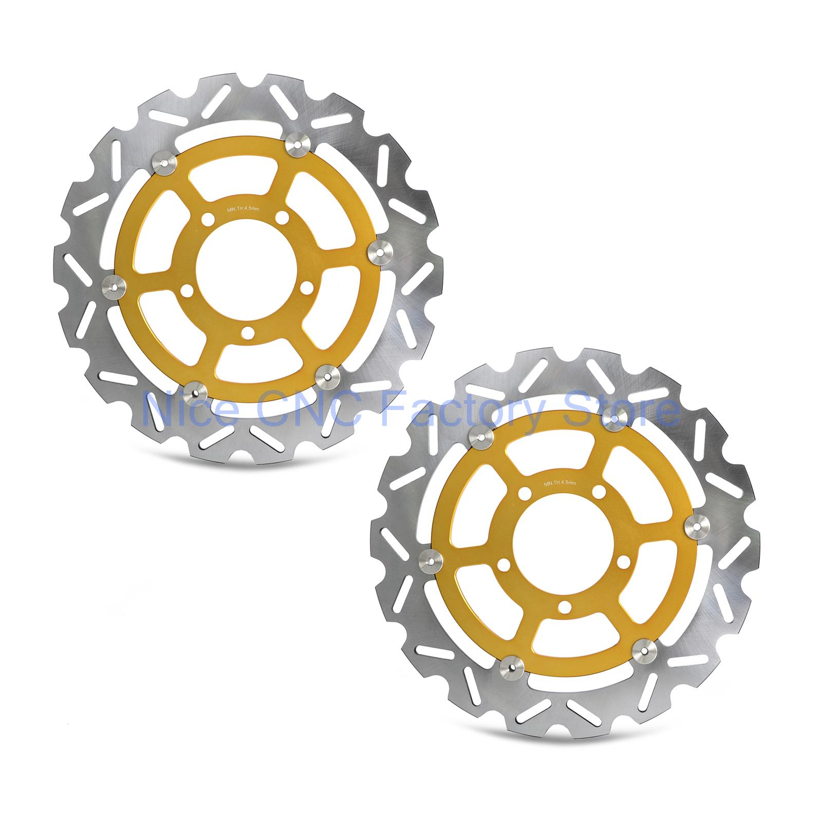 2 Pcs Motorcycle Floating Front Brake Disc Rotor For Kawasaki Z800 2013-2016 Versys 1000 2015 2016 Z1000 ZR1000 2014 -2016 320mm floating motorcycle brake disc disks rotor for ktm duke 125 200 390 duke 2013 2016 motorbike front brake disc disks