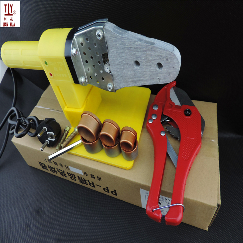 Free Shipping WIth 42mm pipe cutter Welding machine for plastic pipes JIANHUA 20-32mm PPR Tube Welding Machine AC 220/110V 600W free shipping plumber tool with 42mm cutter 220v 800wplastic water pipe welder heating ppr welding machine for plastic pipes
