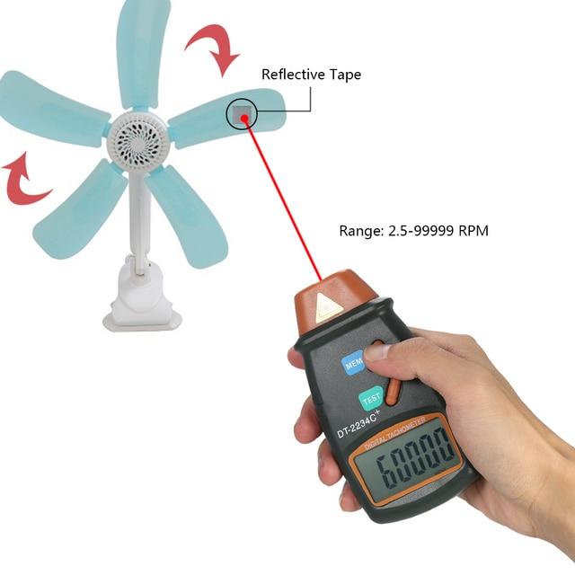 Handheld Digital Photo Tacômetro LCD Medidor de Velocidade Do Motor A Laser  Faixa de Não- 441bcca525