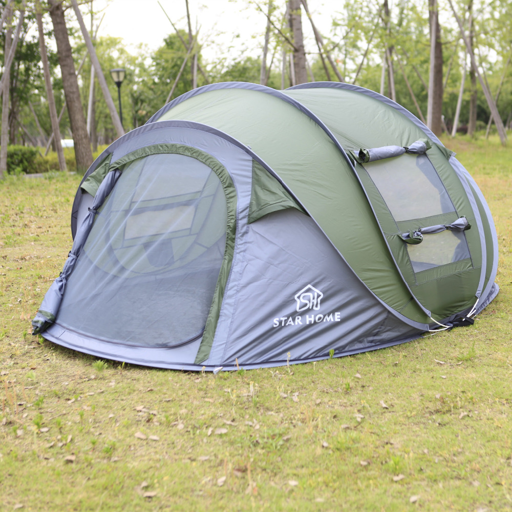Star Home cheap 3 person tent 3 season waterproof  camping tent  for outdoor high quality outdoor 2 person camping tent double layer aluminum rod ultralight tent with snow skirt oneroad windsnow 2 plus