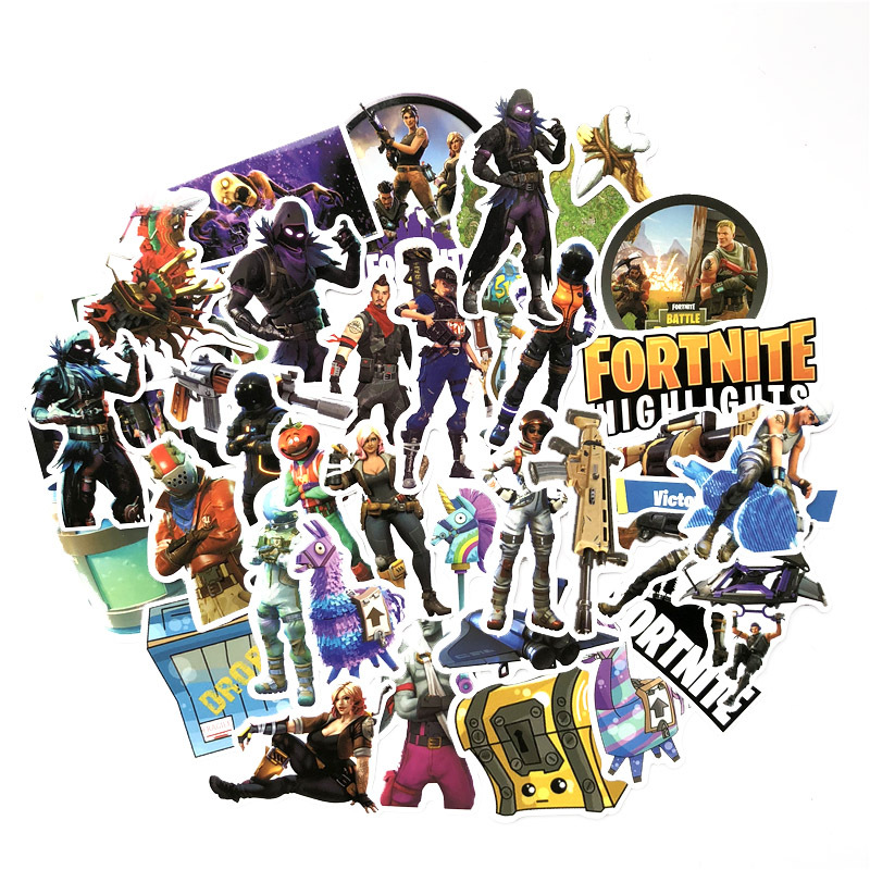40Pcs/Lot Steam Game Fortnite High Lights Royal Battle Moment Stickers For Luggage Bag C ...