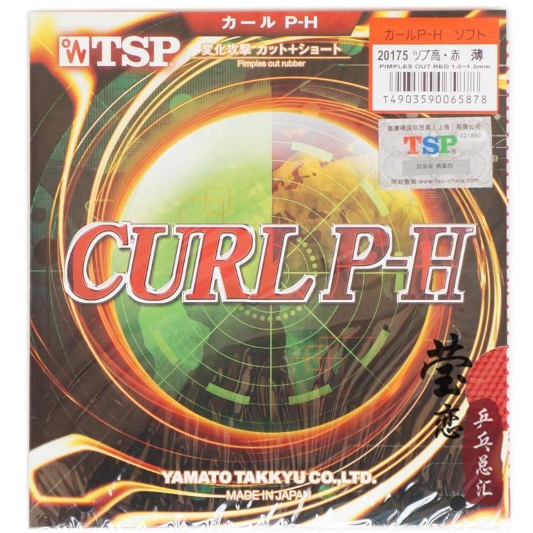 Origianl TSP CURL P-H T-20175 jerawat panjang ping pong getah ping pong raket raket sukan perubahan serangan dibuat di Jepun