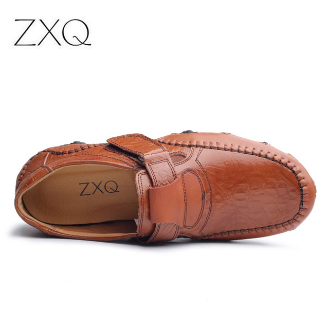 New Design 2017 Spring Summer Men Flat Shoes Soft Split Leather Male Moccasin Driving Loafers Shoes Casual Sapatos Homens 3