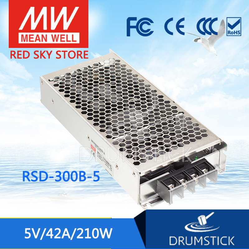 MEAN WELL RSD-300B-5 5V 42A meanwell RSD-300 5V 210W Railway Single Output DC-DC Converter