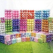 24 шт./компл. 4 см Пластик декоративные рождественские шары для DIY Рождество вечерние свадебные шары с орнаментом для домашнего декора Рождества