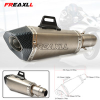 Universal 36 51MM 61MM Motorcycle Exhaust Pipe Modified Muffler Pipe For YAMAHA YZF R1 R3 R6 XJR1300 FJR 1300 FZ1 FAZER MT 07