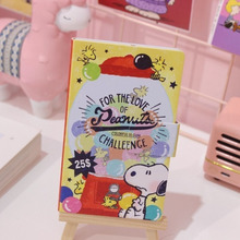 Cute Snoopys Portable Pocket School Notebook Comic Color Inner Page Notepad Kawaii Stationery Diary Travelers Defter Note Book fantasy star hand book japanese hand painted blank inner page diary book color page illustration notebook