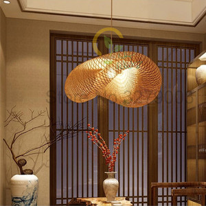 Image 2 - Southeast Asian Handmade Bamboo Weaving Rattan Art Pendant Lights Personality Restaurant Hotel Coffee Hanging Lamps Fixture