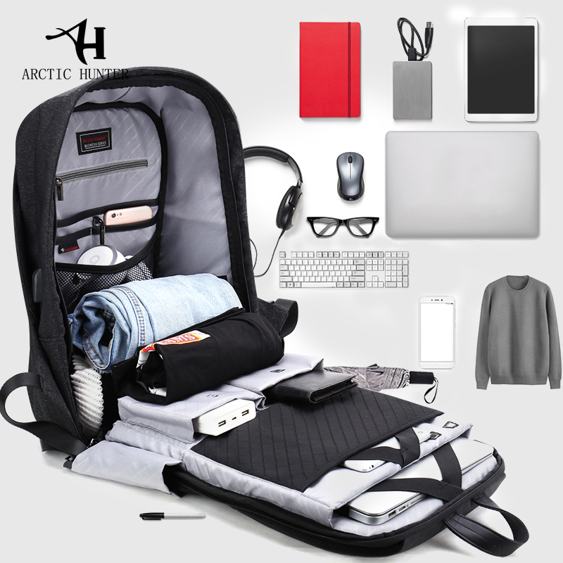 ARCTIC HUNTER Men's Laptop Backpacks School Backpacks Waterproof Casual Business Bag Travel Backpack Fashion 2018 New все цены