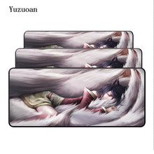Yuzuoan Ahri League of Legends Large Overlock Mouse Pads Game keyboard Mousepad Computer Mouse Gaming Mat for CSGO Dota 2 LOL