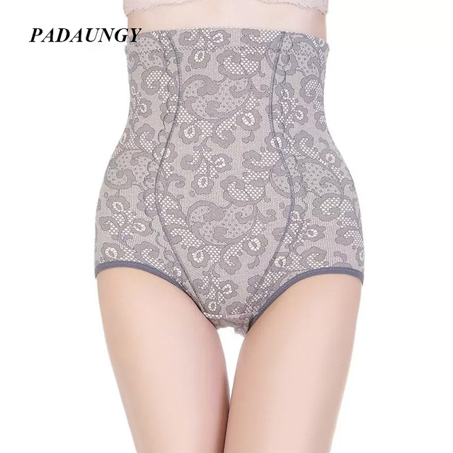 PADAUNGY Hot Shapers Slimming Underwear Cintura Alta Shapewear Cintura Barriga Controle Bainha Bunda Espólio Calcinha Corretiva Underwear