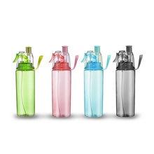 600ml Spray Sports Plastic Water Bottle Portable Atomizing B