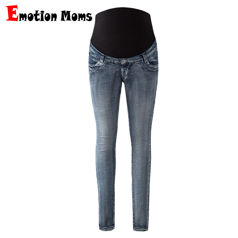 Emotion Moms Maternity Jeans Pants For Pregnant Women Maternity Trousers Pregnancy Pants Overalls Denim Long Prop Belly Legging 2017 new jeans women spring pants high waist thin slim elastic waist pencil pants fashion denim trousers 3 color plus size