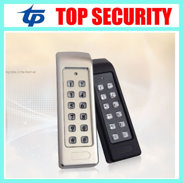 DHL free shipping English Version standalone RFID card password access control system door access controller with LED keypad metal rfid em card reader ip68 waterproof metal standalone door lock access control system with keypad 2000 card users capacity