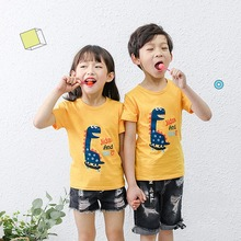 MrY Summer Boys Cartoon O-neck T-shirts Child Short Sleeve Tops Girls Casual Tees цена и фото