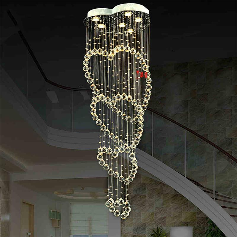 Modern LED Crystal Pendant Lights Fixtures for Dining Room Magic Ball Loft Stair Crystal Light Meteor Shower Rain Pendant Lamp