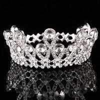Diameter 9cm Bride Hair Jewelry Girls Small Crowns Rhinestone Tiaras Korean Bride Children S Gifts Princess