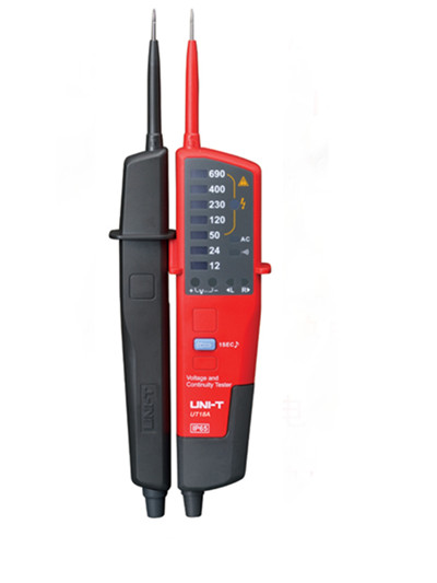 UNI-T UT18A Auto Range Voltimetro Digital Voltmeter Voltage Tester Pen With LED Indication and No Battery Detection uni t ut15c lcd waterproof tester pen voltage voltmeter motorcycle voltimetro