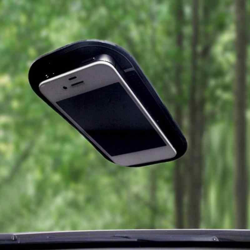 Alfombrilla para tablero de automóvil, adhesivo, antideslizante, soporte para llave de teléfono, Alfombrilla en negro/blanco