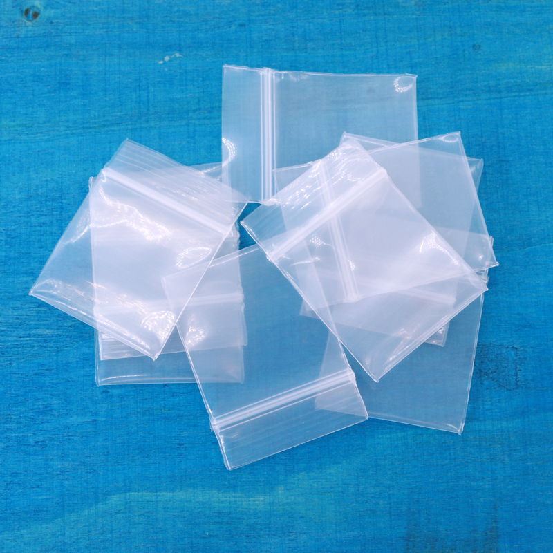 Clear Zip Lock Plastic Packaging Bags Transparent White Self Seal Resealable Zipper Bag Mini Jewelry Bead Pouch  100pcs/pack