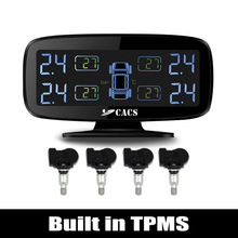 Wireless Tire Pressure Monitoring System TPMS for Car with Built in Sensors / Anti-interference Tyre abnormal condition Alarm