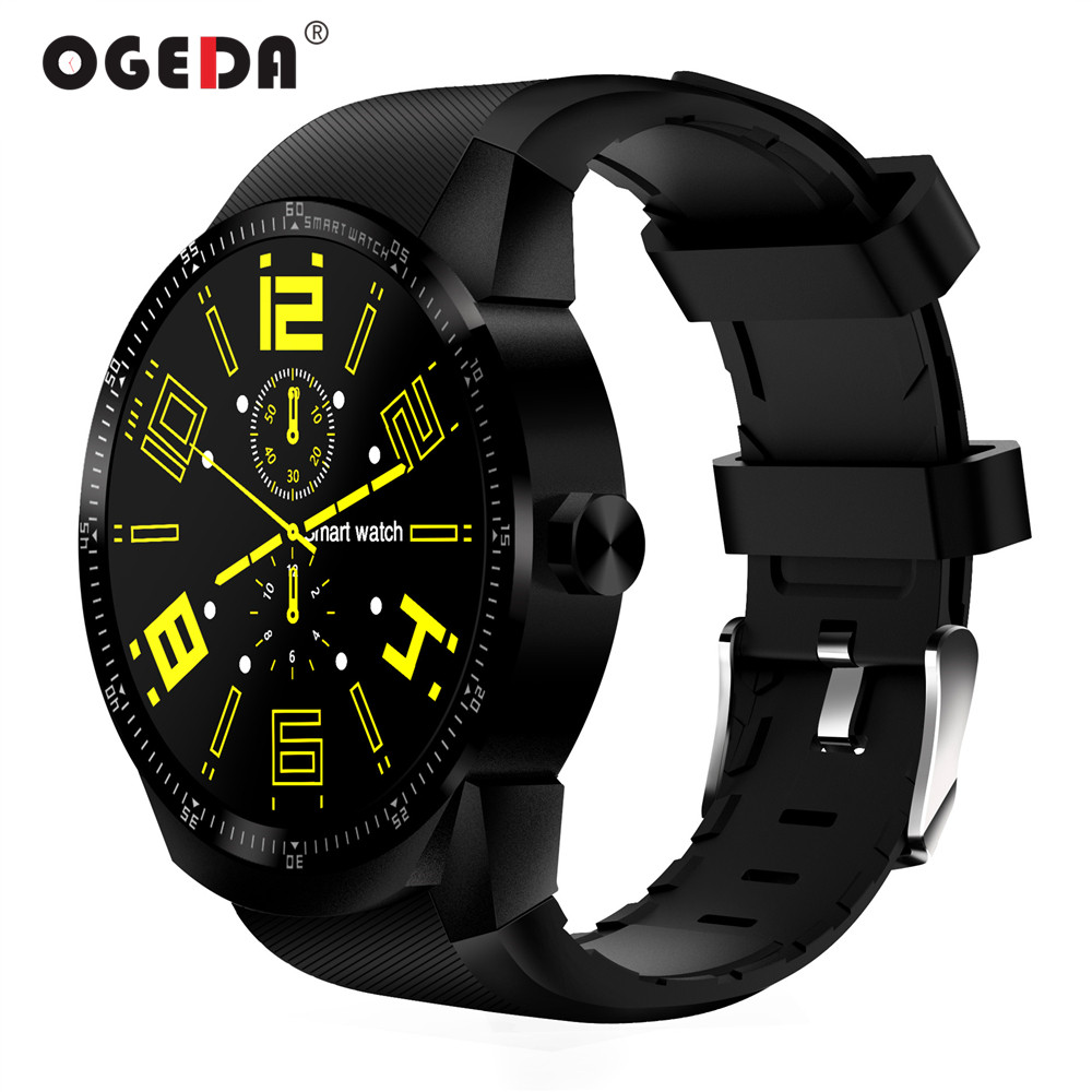 OGEDA K98H 3G GPS Wifi Men Smart Watch Android 4.1 Support SIM Heart Rate Tracker 4GB ROM Waterproof Bluetooth Smart Watch Male english smart watch d100 elderly heart rate monitor fall down alarm function gps lbs wifi tracker montre connecter android f36