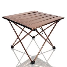 Mesas laterales portátiles para acampar con encimera de aluminio: mesa plegable de tapa dura en una bolsa para Picnic, Campamento, playa, barco, útil