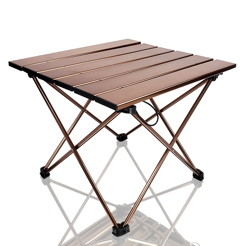 Portable Camping Side Tables With Aluminum Table Top: Hard-Topped Folding Table In A Bag For Picnic, Camp, Beach, Boat, Useful