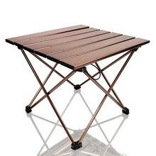 Taşınabilir kamp yan masalar alüminyum masa üstü: sert Topped katlanır masa bir çanta piknik için, kamp, plaj, tekne, kullanışlı