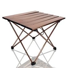 Tables dappoint de Camping portables avec plateau de Table en aluminium: Table pliante à dessus dur dans un sac pour pique nique, Camp, plage, bateau, utile