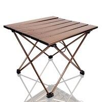 Tragbare Camping Seite Tische mit Aluminium Tisch Top: Hard Gekrönt Klapptisch in eine Tasche für Picknick  camp  Strand  Boot  Nützliche-in Gartentische aus Möbel bei