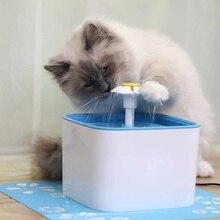 Pet Cat Dog Автоматический питьевой фонтан Blue Flower Style Drinking Water Dispenser Drink Dish Filter Drop Доставка