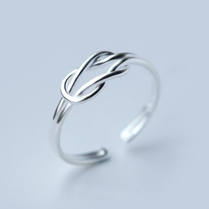Jisensp ювелирные изделия в стиле минимализма серебряные геометрические кольца для женщин с регулируемой окружностью треугольник сердцебиение кольца на фаланги pour femme - Цвет основного камня: SYJZ019