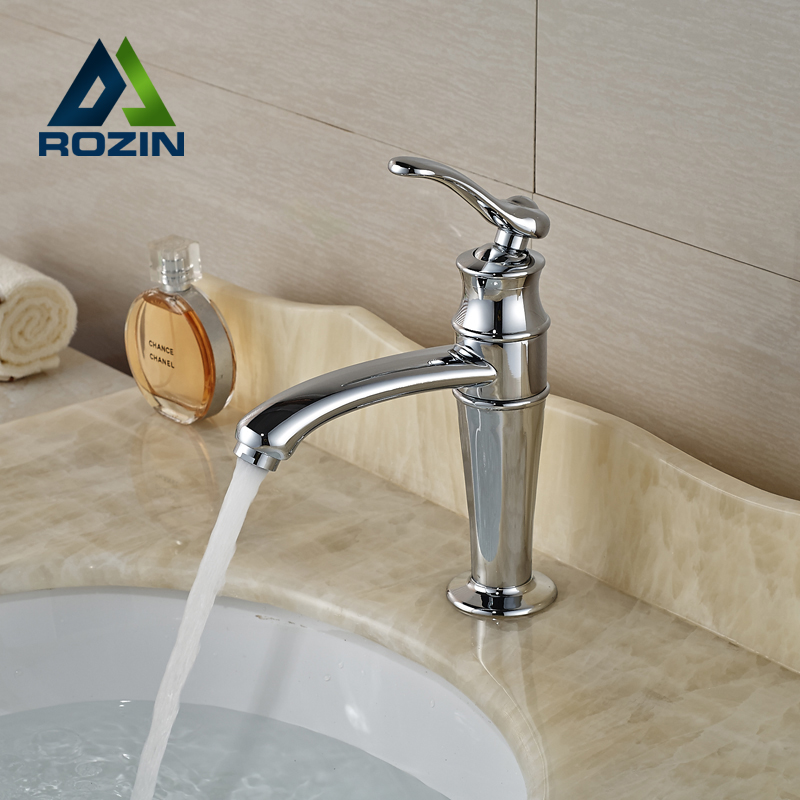 ФОТО Unique Design Brass Basin Vanity Sink Faucet Bathroom Vessel Sink Mixer Tap Chrome Finished
