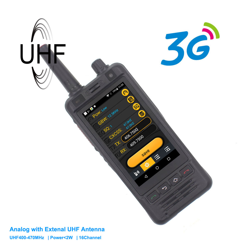 3G Mobile Phone  W5  PTT Radio IP67 Waterproof UHF 400-470MHz Walkie Talkie 5MP Camera Dual SIM Android 6 Smart Phone