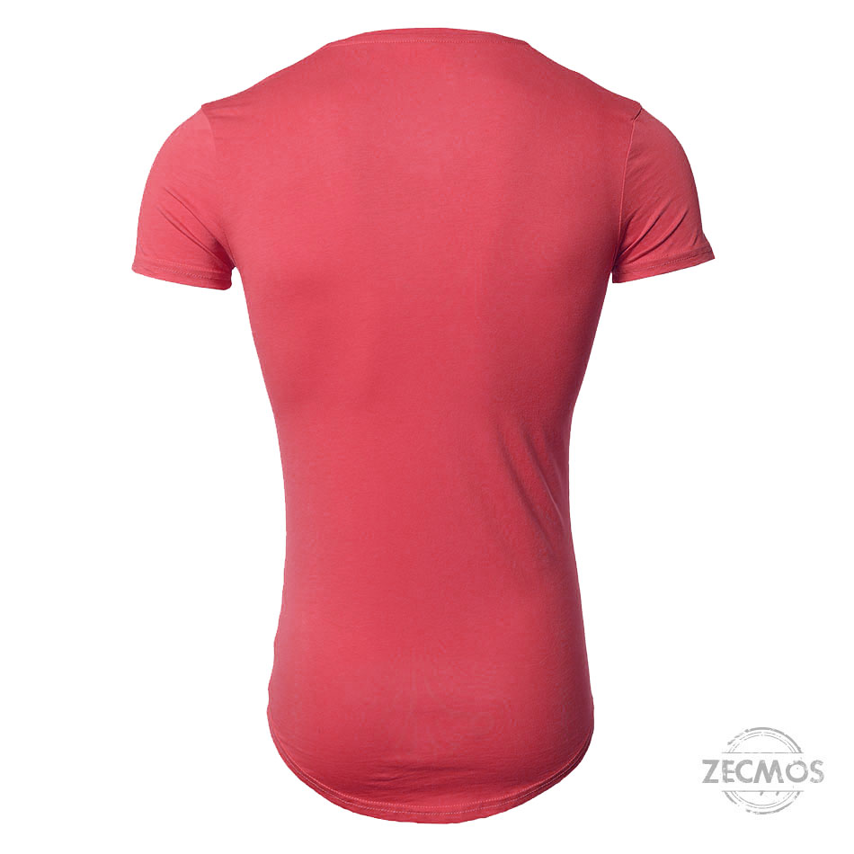 Zecmos Deep V Neck Sexy Men T-Shirt Vintage Short Sleeve Solid Color Muscle Fit T Shirt Men Top Tees Fashion 23
