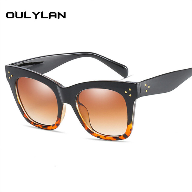 Oulylan Classic Cat Eye Vintage Oversized Gradient UV400 Sunglass 1