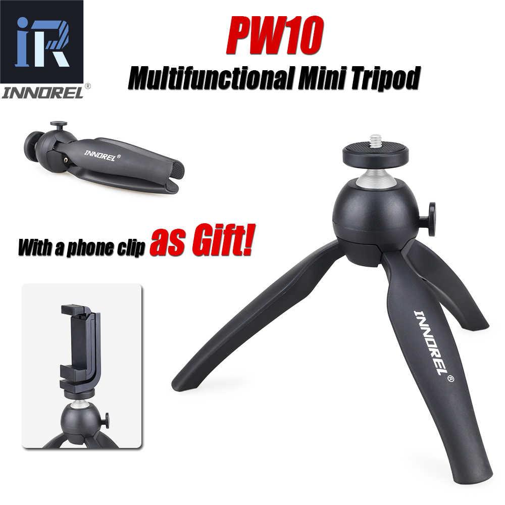INNOREL PW10 многофункциональный мини настольный штатив держатель для телефона крепление селфи палка Для беззеркальных камер и большинства мобильных телефонов