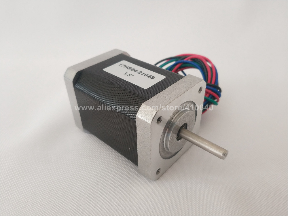 Stepper Motor 17HS24 2104S L 60 mm Nema 17 with 1 8 deg 2 1 A 65 N cm and bipolar 4 lead wire HIGH TORQUE TYPE in Stepper Motor from Home Improvement