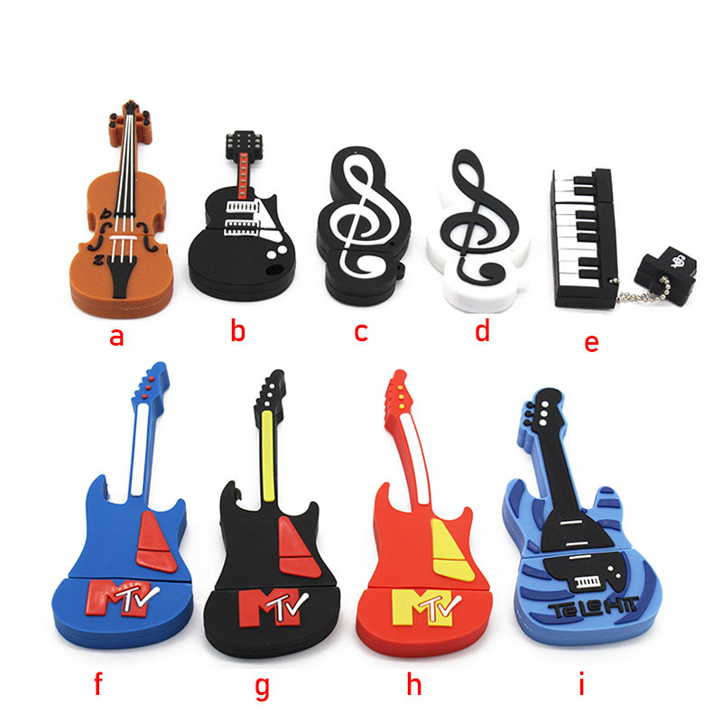 TEXT ME Music note pen drive musical instrument usb flash drive pendrive 4GB 8GB 16GB 32GB cartoon memory stick U disk gift