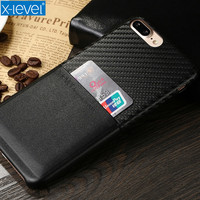 X Level Case For IPhone 7 PU Leather Card Slot Luxury Phone Case For For IPhone
