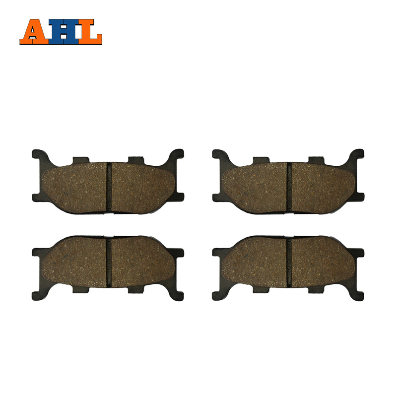 AHL 2 Pairs Motorcycle Brake Pads for YAMAHA XVS 1100 XVS1100 V-Star Custom / Classic / Silverado 1999-2007 Black Brake Disc Pad motorcycle front and rear brake pads for yamaha xvs 1300 xvs1300 a midnight star 2007 2010 black brake disc pad